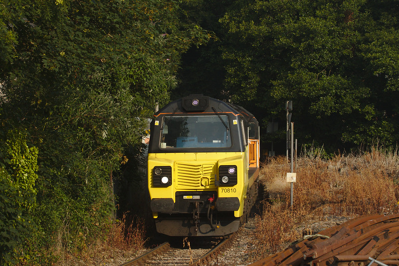 Colas Rail 70810 on the 668R Moorwater Tarmac Colas to Aberthaw Tarmace Colas cement empties