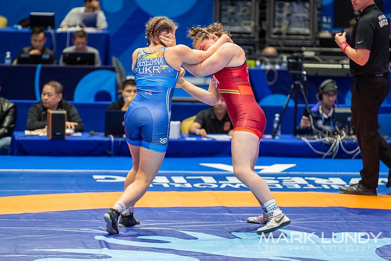 Quarterfinal: Alina Berezhna Stadnik Makhynia (Ukraine) over Victoria Christine Francis (United States)  •  Dec 4-0 - 2019 World Championships