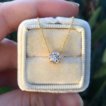 .44ct Old European Cut Diamond Clover Pendant