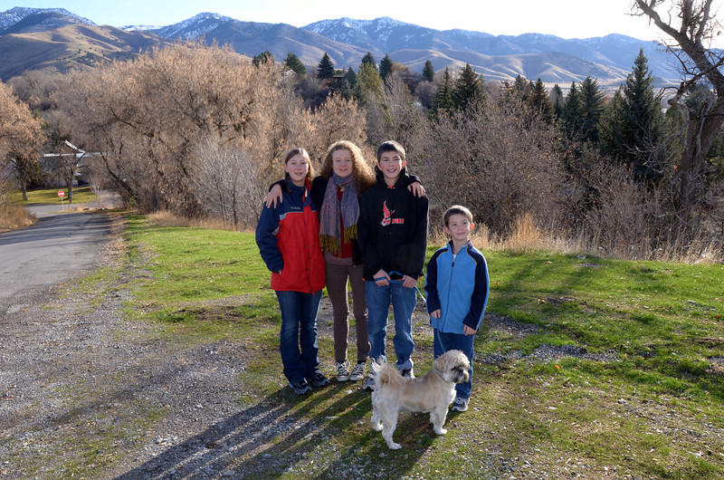 Kendra, Emilie, Matt, Josh, Otis (dog)