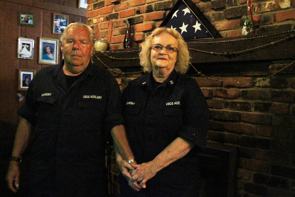 . Kristi Garabrandt � The News-Herald <br> Joe and Donna Muharsky, Mentor,  have assisted in 32 life saving mission since joining the Coast Guard Auxiliary in 2002.