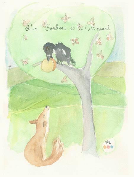 No.122 Le renard et le corbeau.jpg