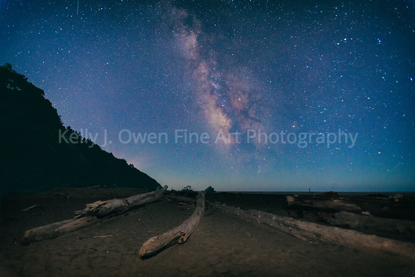 Navarro Beach, California & the Milky Way