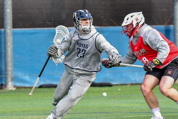 Georgetown Hoyas vs. University of Maryland Men's Lacrosse 1-26-19 | Scrimmage