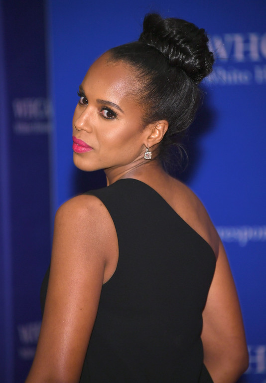 . Actress Kerry Washington attends the 102nd White House Correspondents\' Association Dinner on April 30, 2016 in Washington, DC.  (Photo by Larry Busacca/Getty Images)