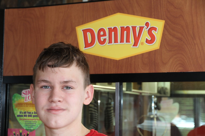 Aaron took me to Denny's for breakfast