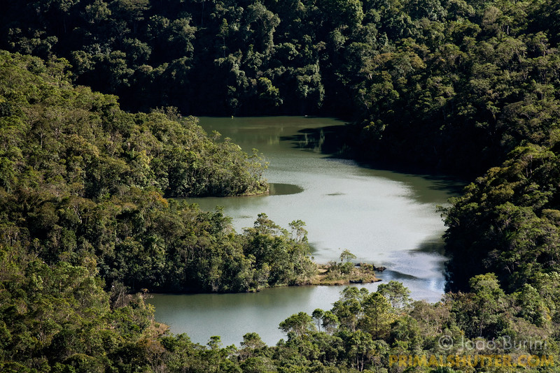 Main lake in Intervales State Park, Brazil. South-east atlantic forest reserve, UNESCO World Heritage Site.