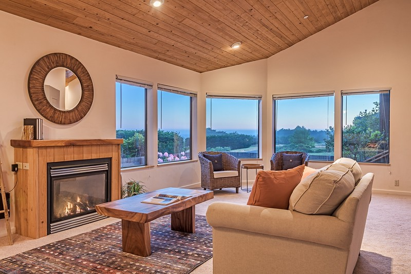 Cozy Living Room at Twilight