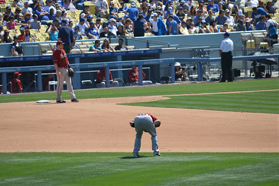 Diamond Backs at Dodgers, Bottom of the Fifth, 20 April 2014