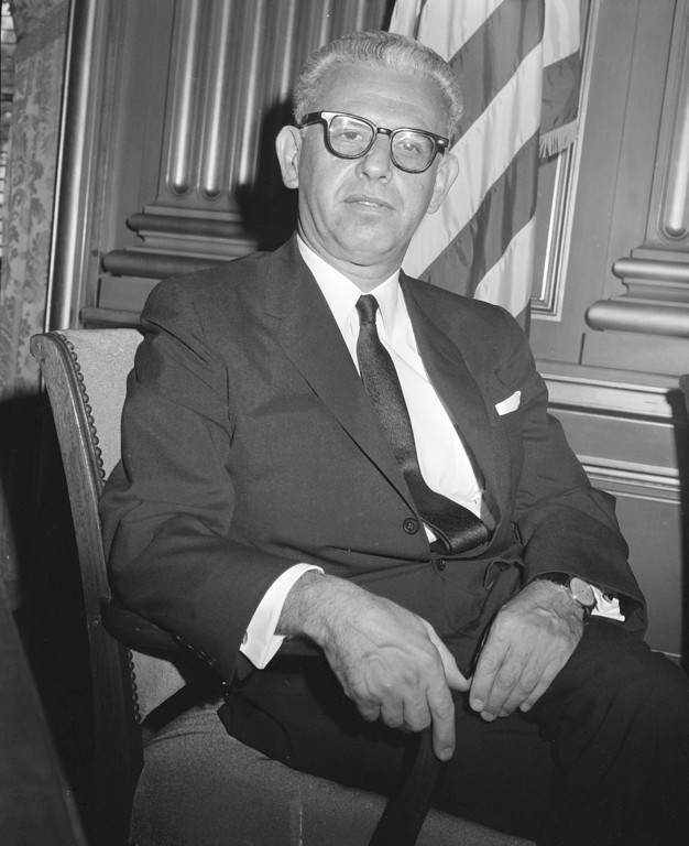 . Arthur J. Goldberg, designated to be an Associate Justice of the U.S. Supreme Court, is seen in Washington, Aug. 30, 1962.  (AP Photo/William J. Smith)