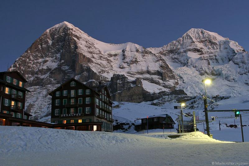 Eiger 3970m and Mönch 4107m @ Kleine Scheidegg Switzerland 13Jan07