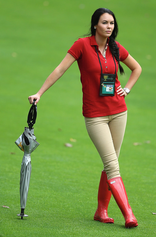 . Amanda Dufner watches the action during the Day Four Singles Matches at the Muirfield Village Golf Club on October 6, 2013  in Dublin, Ohio.  (Photo by Andy Lyons/Getty Images)