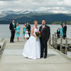 Shore Lodge wedding - early spring on Payette Lake