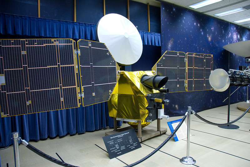 Mars Reconnaissance Orbiter Spacecraft Model in JPL, California