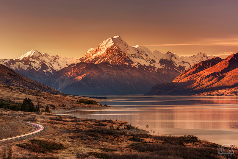 Aoraki/Mt Cook at sunset