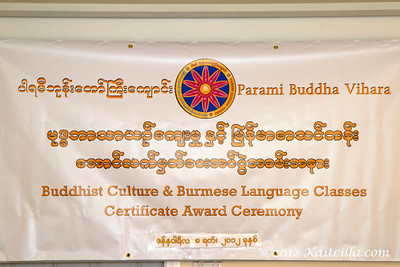 Buddhist Culture & Burmese Class - Award Ceremony