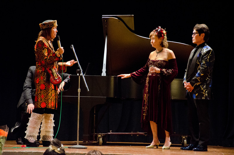 Ludmila, second on rigt; Sheila Ash on left - Ludmila Kisseleva-Eggleton birthday party at Hillside Club, Berkeley, CA