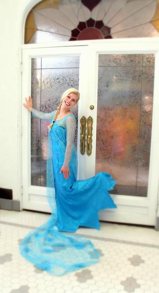 Elsa in the birthday castle….