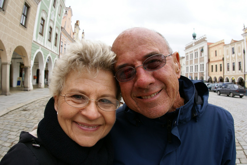 My parents in Telc.