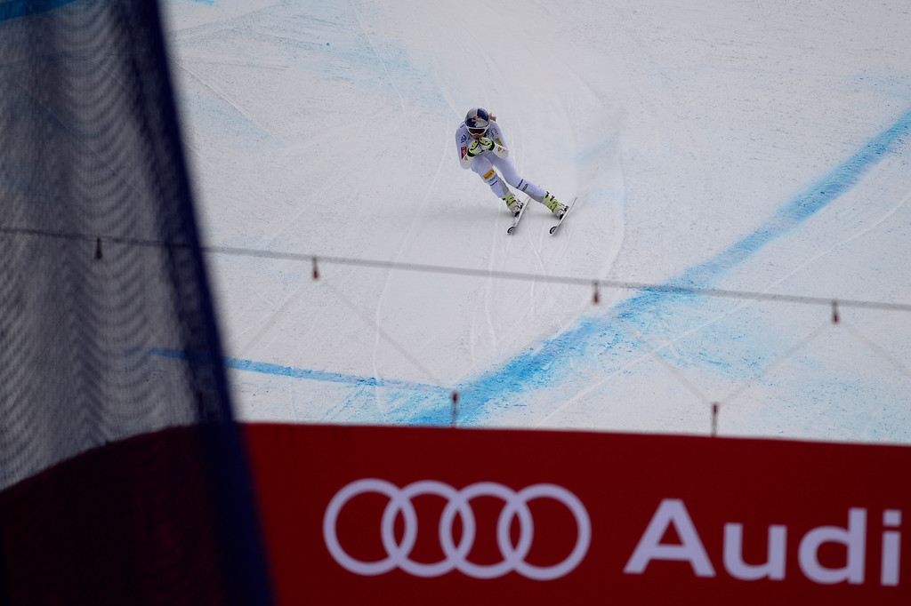 . BEAVER CREEK, CO - FEBRUARY 03: USA skier Lindsey Vonn competes during the the ladies\' super-G finals. FIS Alpine World Ski Championships 2015 on Tuesday, February 3, 2015. (Photo by AAron Ontiveroz/The Denver Post)