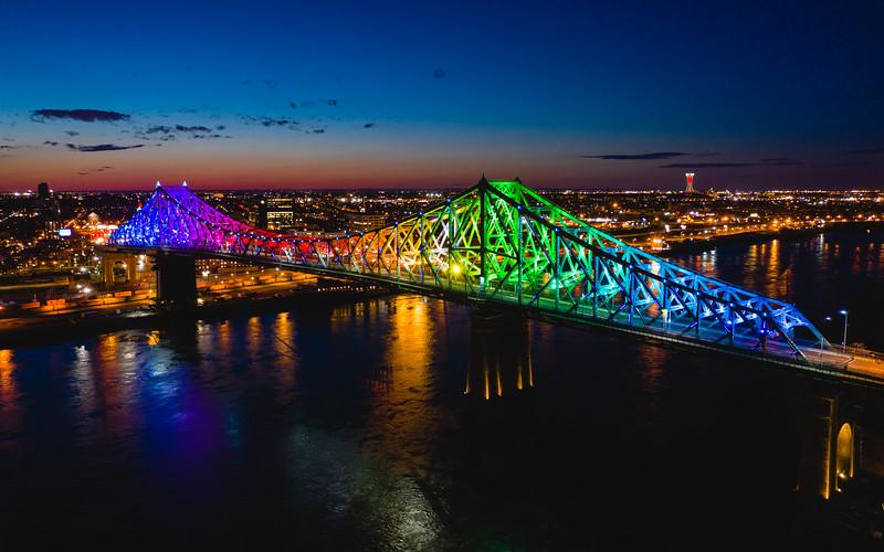 Jacques Cartier Bridge (Drone Footage) | Québec