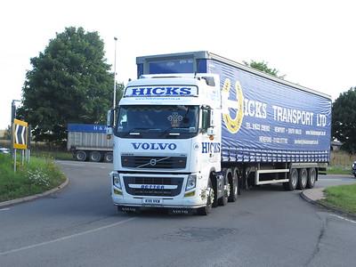Trucks at Avonmouth docks July 20