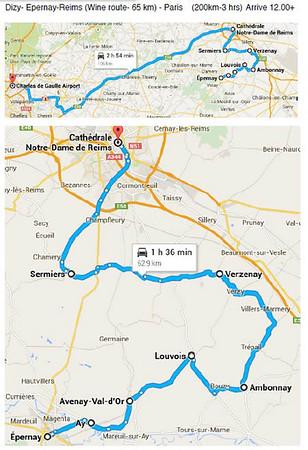 13 September 2015 Dizy- Epernay-Reims- Paris