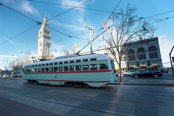 San Francisco's Historic PCCs on the F-Line
