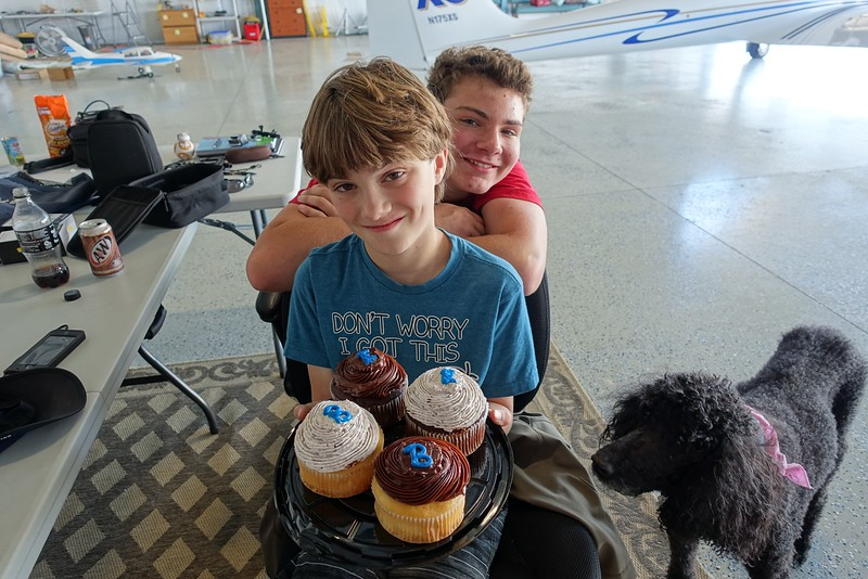 "We all know how much Brady likes cupcakes, especially when they have a big ""B"" on them for Brady (or sometimes Brian)."