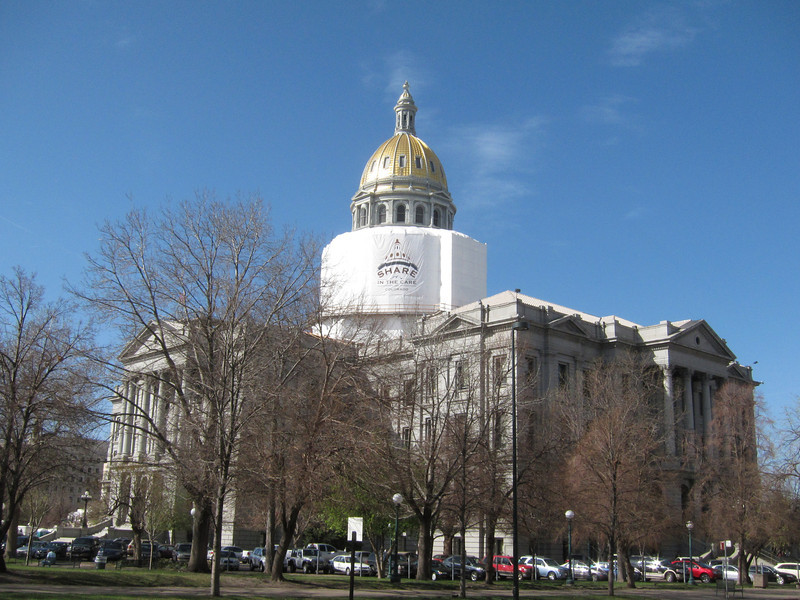 The Capitol is currently undergoing exterior renovations.