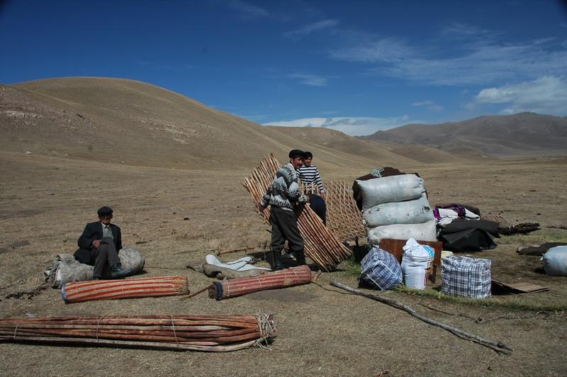 Taking Down a Yurt - Song Kul, Kyrgyzstan