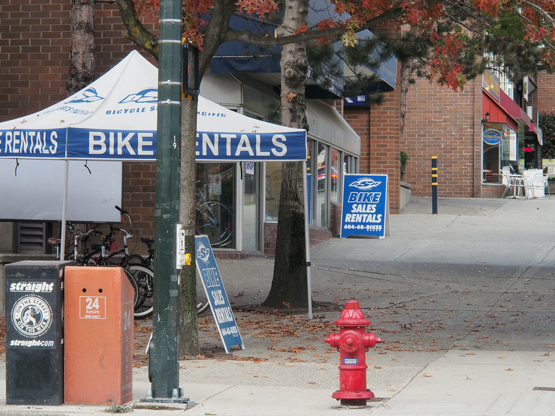 Oct. 20/13 - Bicycle Sports Pacific (999 Pacific St.), where I rented my bike