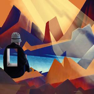 DIGITAL CREATIVE - Canyon GeometricsSue McBrideUn14gold
