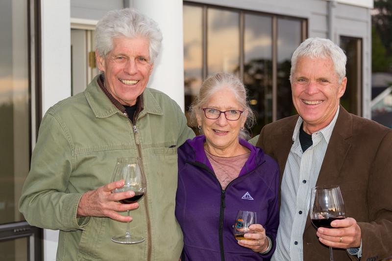 Michael, Kathy, Kirk; happy siblings