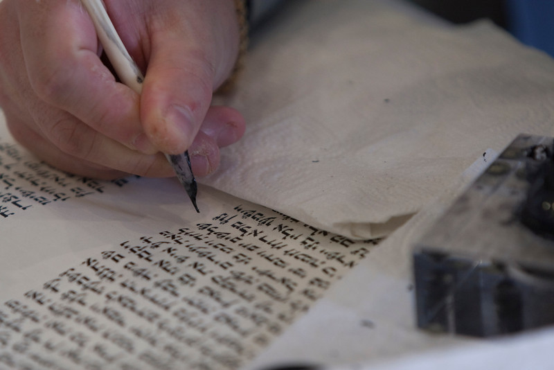 On the afternoon of the Siyyum, congregants have one last chance to fill in letters