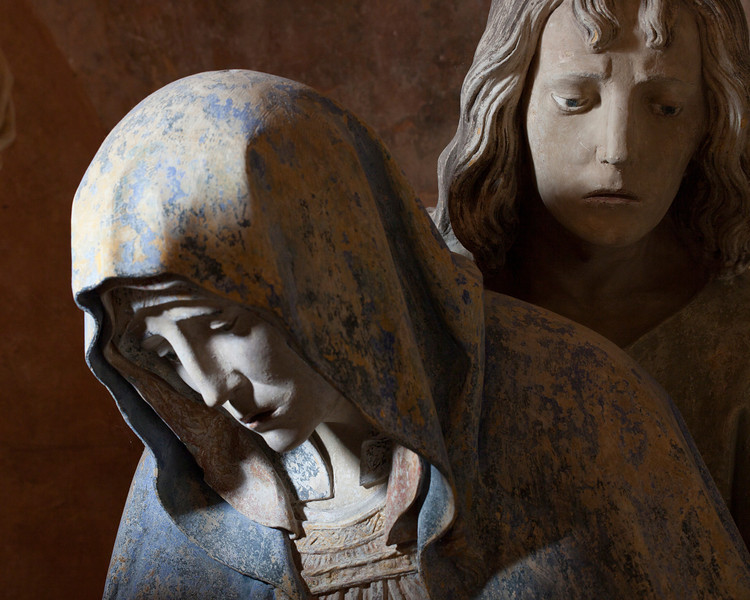 Chaource, Eglise Saint-Jean-Baptiste - The Entombment - The Virgin and Saint-John