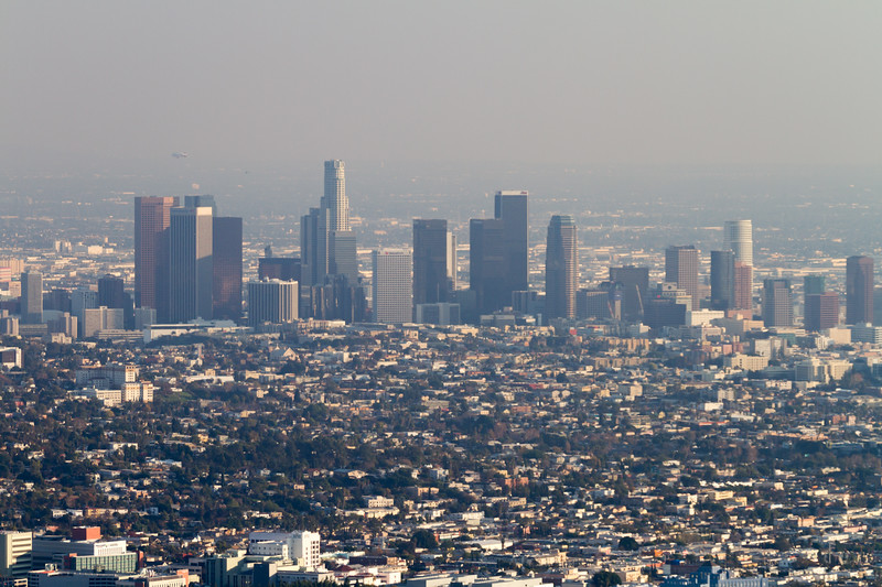 View of downtown Los Angeles - USA - California - Los Angeles