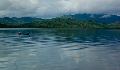 Fishing in the bay in Costa Rica