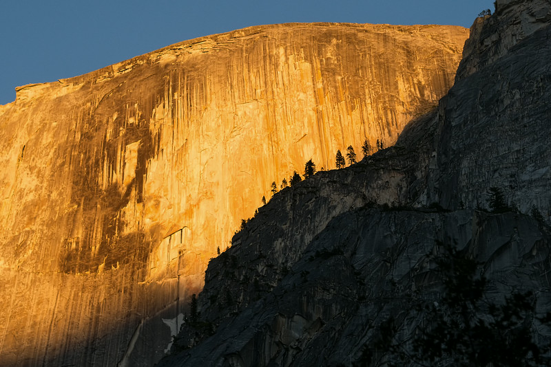 Silhouettes on Half Dome