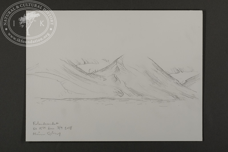 """Mountain tops covered in fog at Forlandet   7.9.2018   """"I want to convey what I see with immediacy and simplicity to make the viewer feel present on the Arctic scene.""""   Måns Sjöberg."""