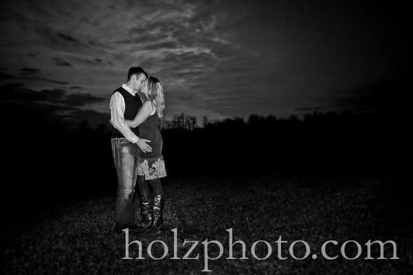Amanda and Mark B/W Engagement Photos