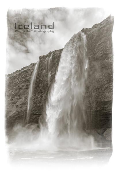 Seljalandfoss    Black & White Photography by Wayne Heim