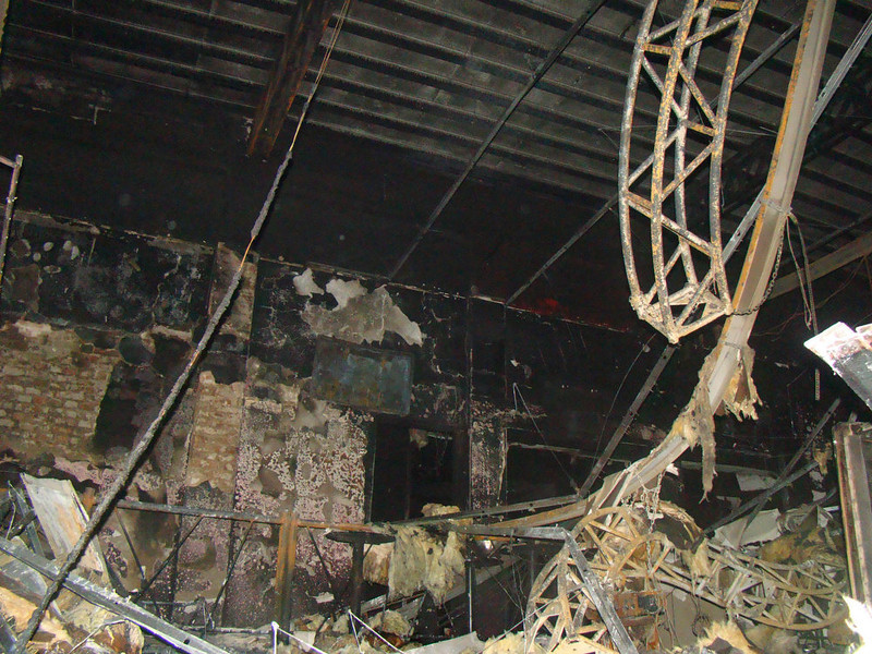 . The interior of the Kiss nightclub is burned out after a fatal fire in Santa Maria, Brazil, Sunday, Jan. 27, 2013.  A fast-moving fire roared through the crowded, windowless Kiss nightclub in this southern Brazilian city early Sunday, killing more than 230 people. Many of the victims were under 20 years old, including some minors. (AP Photo/Roger Shlossmacker)