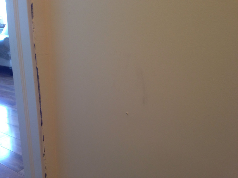 soiled walls on new paint