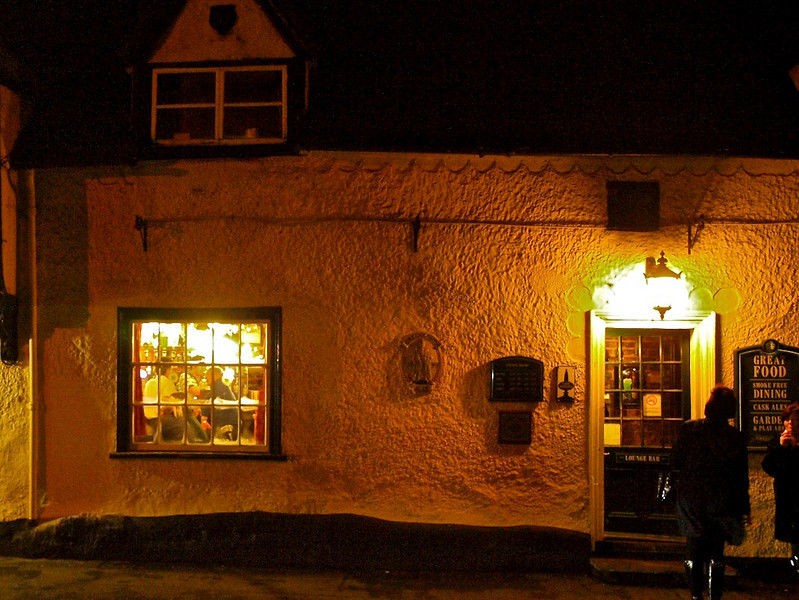 14 Jan 11; The Cock in Gamlingay at night