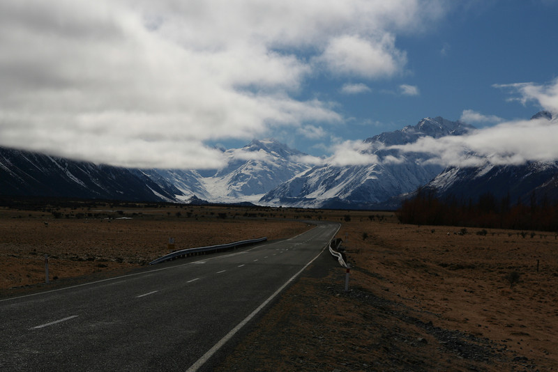 Driving to Mt Cook