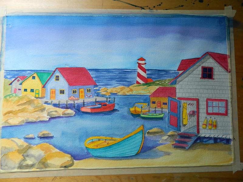 Nova Scotia Harbor, watercolor, 15x22. july 27, 2012. DSCN1354.JPG
