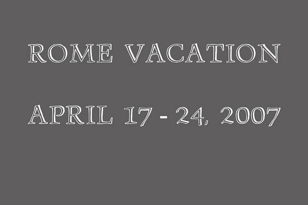 2007-04-17 Rome Italy Vacation