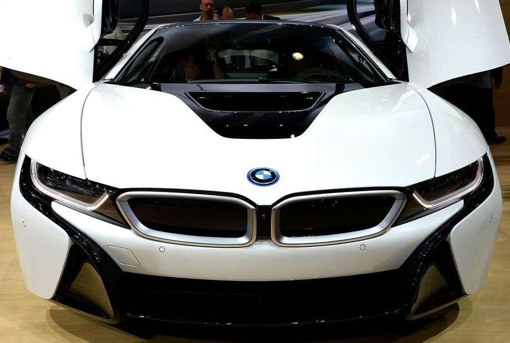 . Nov 20,2013 Los Angeles CA. USA.  BMW i8 concept car on display during the 2013 Los Angeles Auto Show. Photo by Gene Blevins/LA Daily News