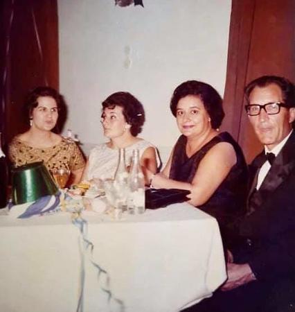 Conceição Matos, Monserrate Canhão Veloso, Júlia Célia e marido Julio da Conceição